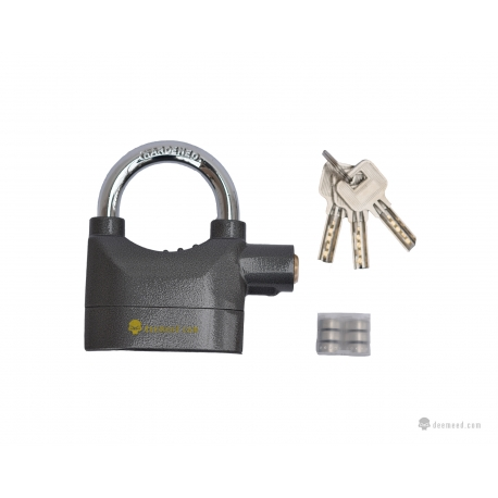 Big and solid lock with an alarm